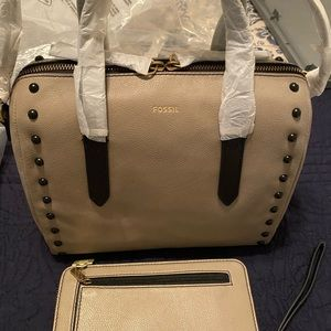 New Fossil Sydney Satchel and Wallet